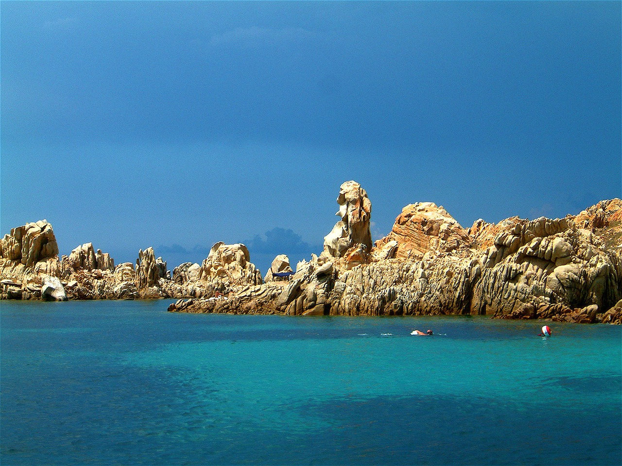 Rocks near Costa Smerelda in Sardinia