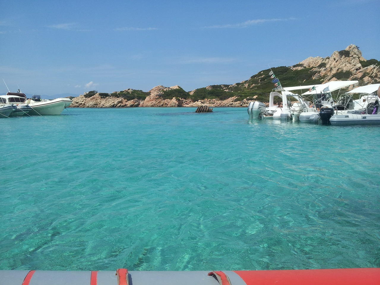 The sea at La Maddalena