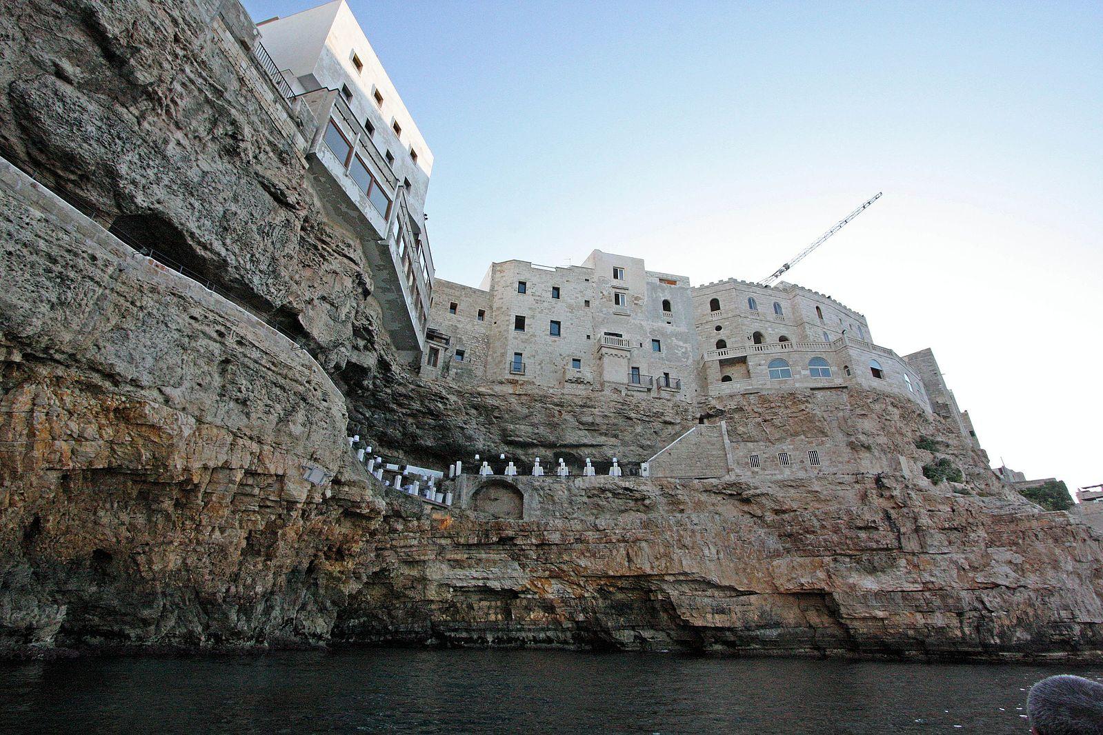 Grotta Palazzese, a cave restaurant in Puglia