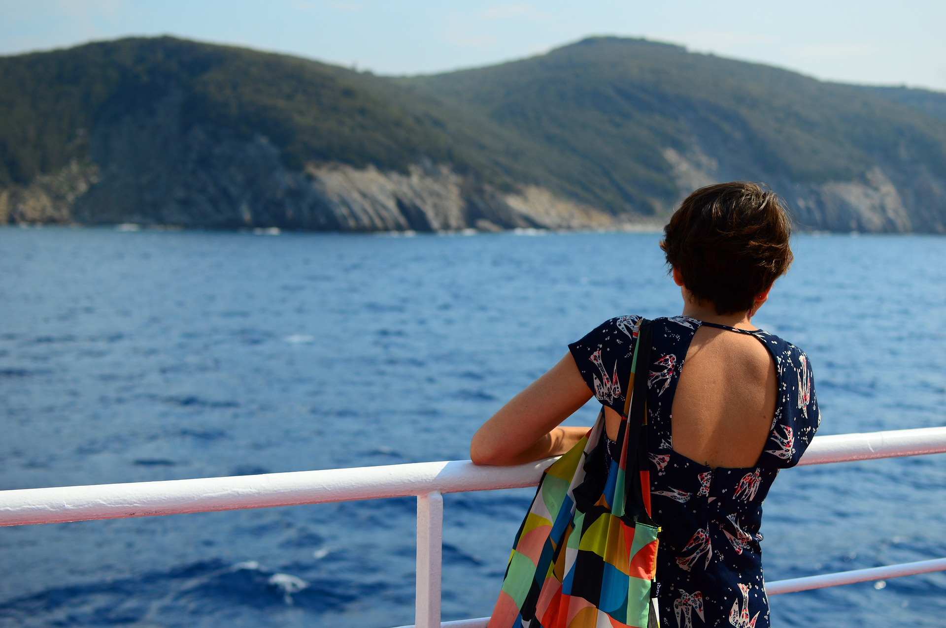 girl on the ferry to Elba