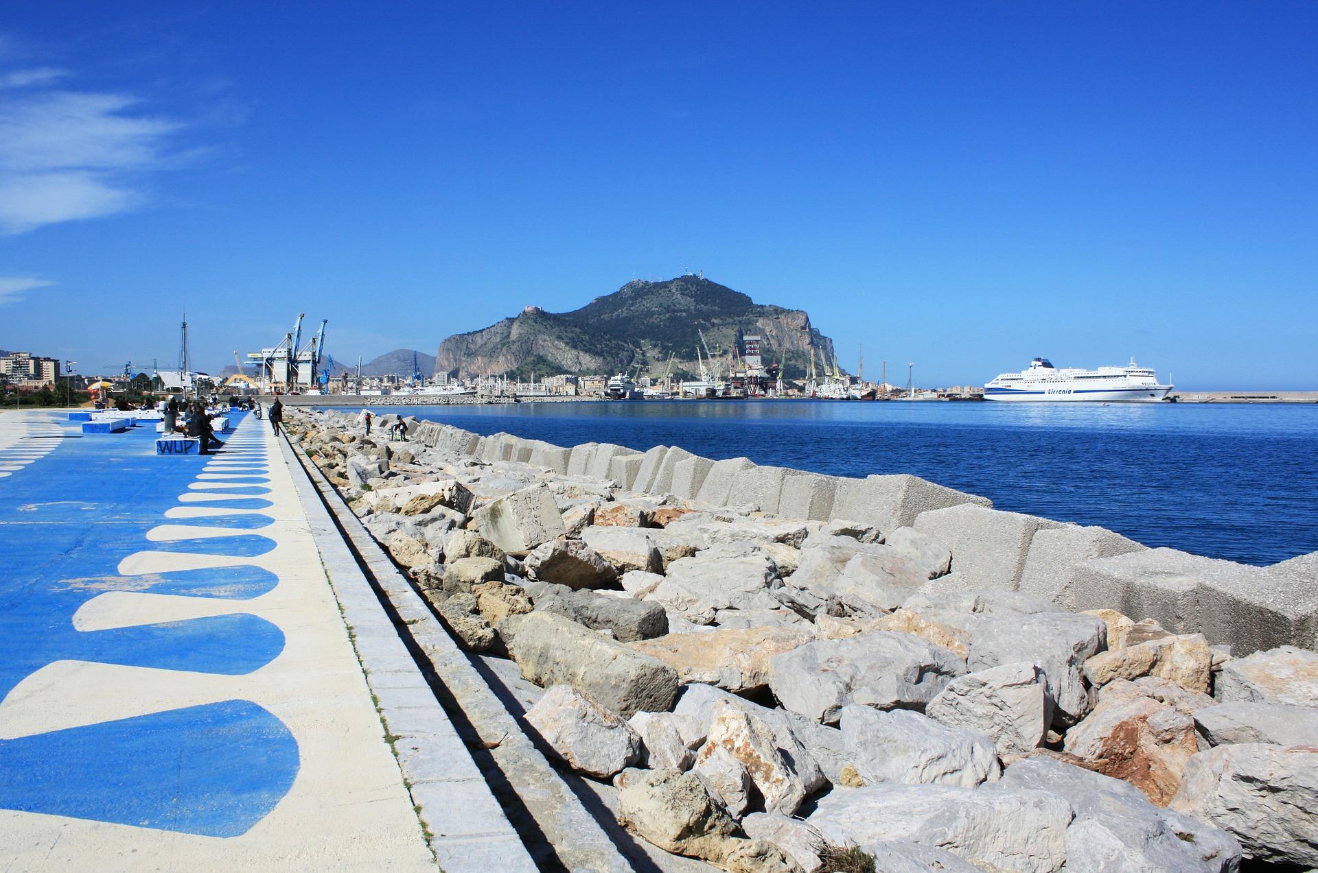 Palermo beach and sea