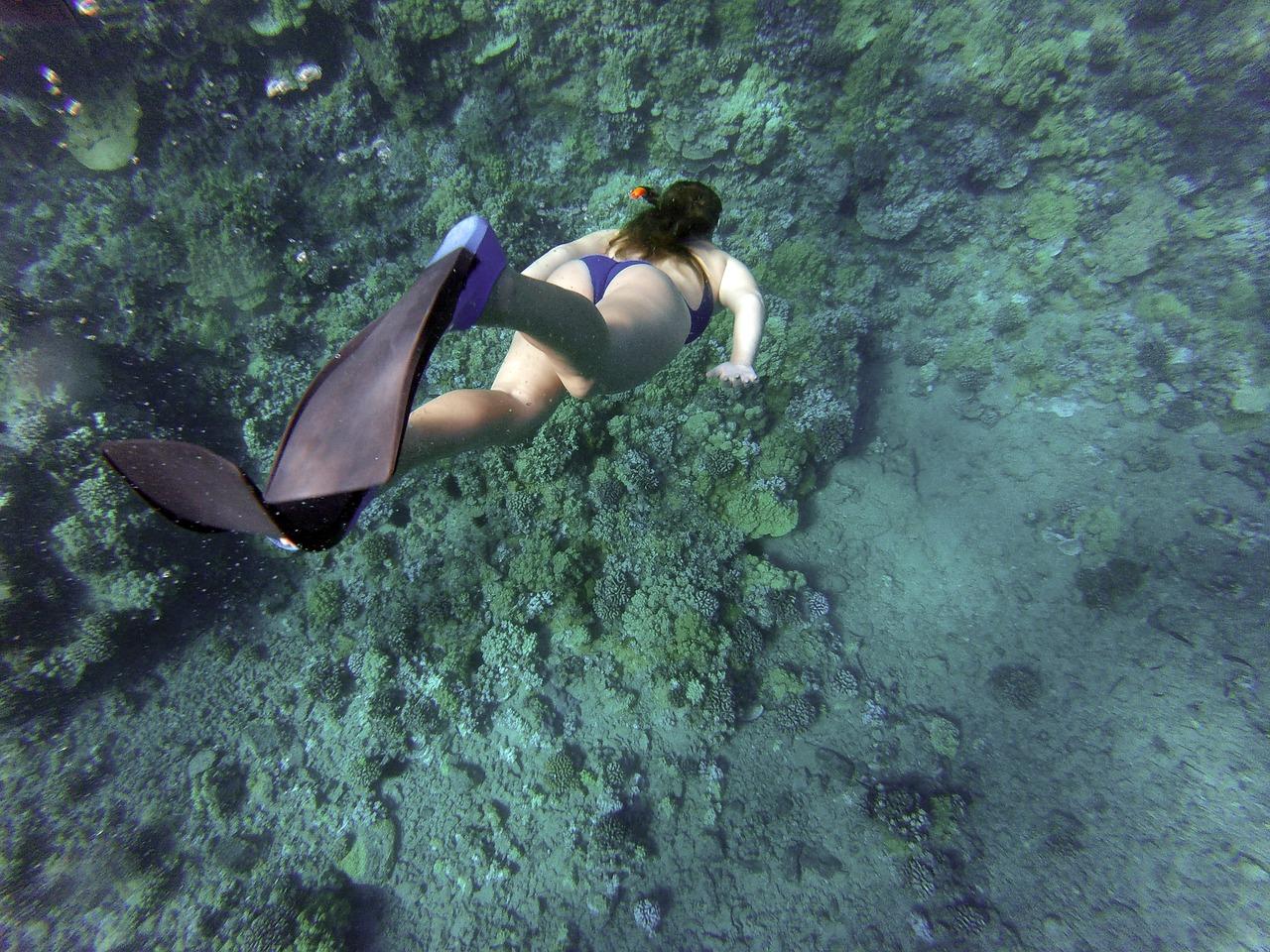 a woman snorkelling at Casalabate's Underwater Secret