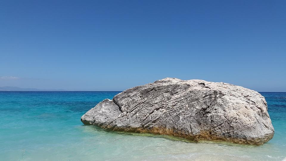 A rock in the sea off the Gulf of Orosei