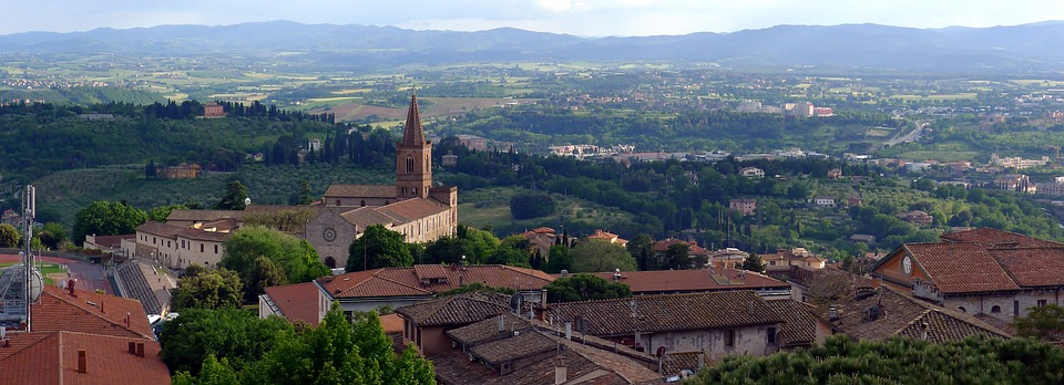 A panoramic view over Perugia, Italy