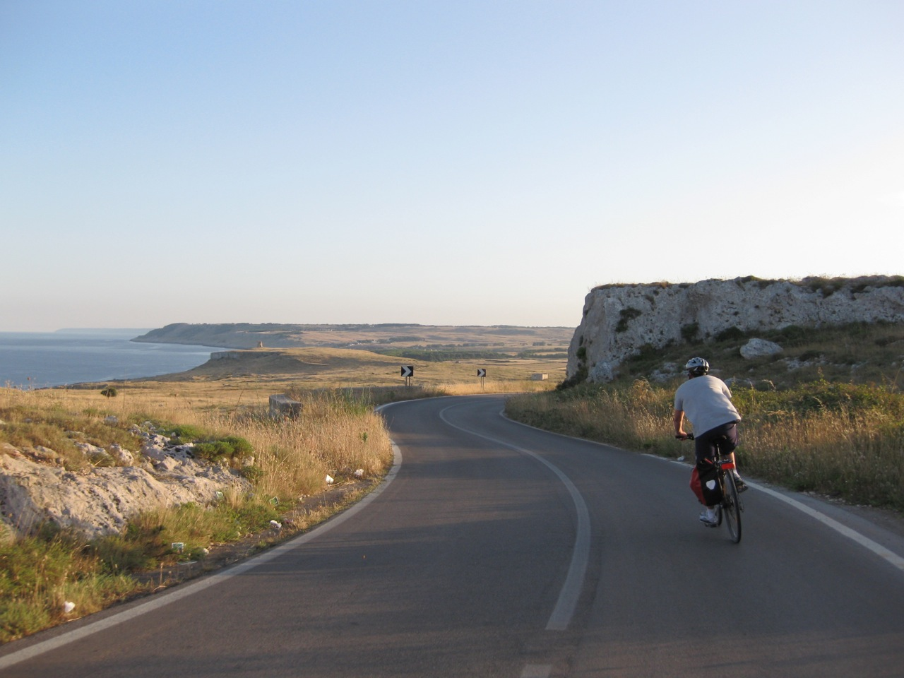 Man cycling in capo of ontranto