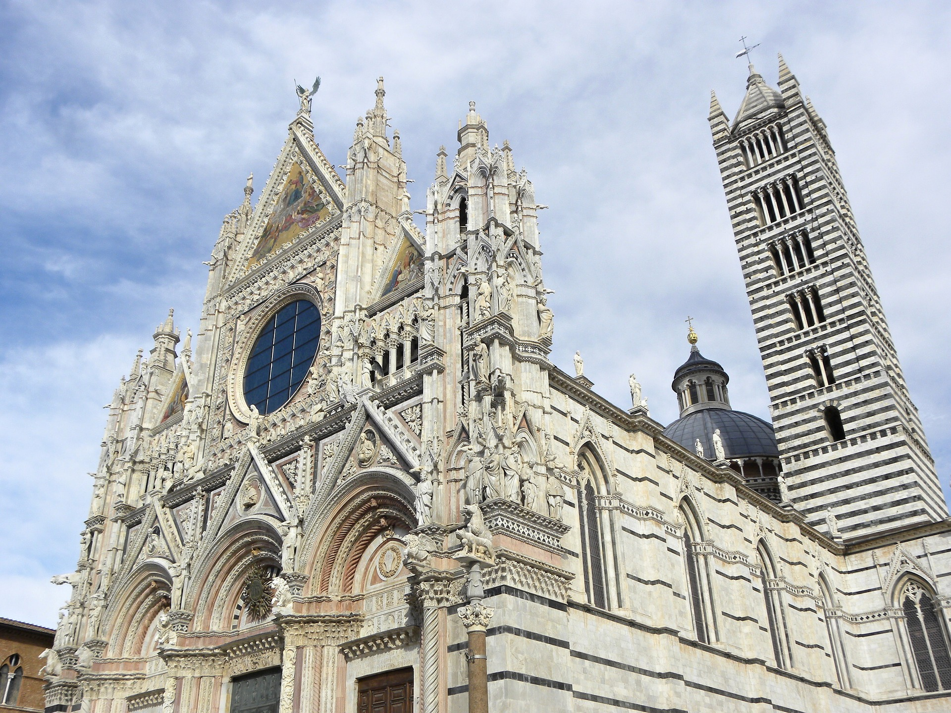 A cathedral in Siena in Tuscany