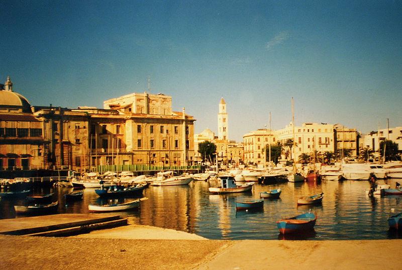 Bari harbour.