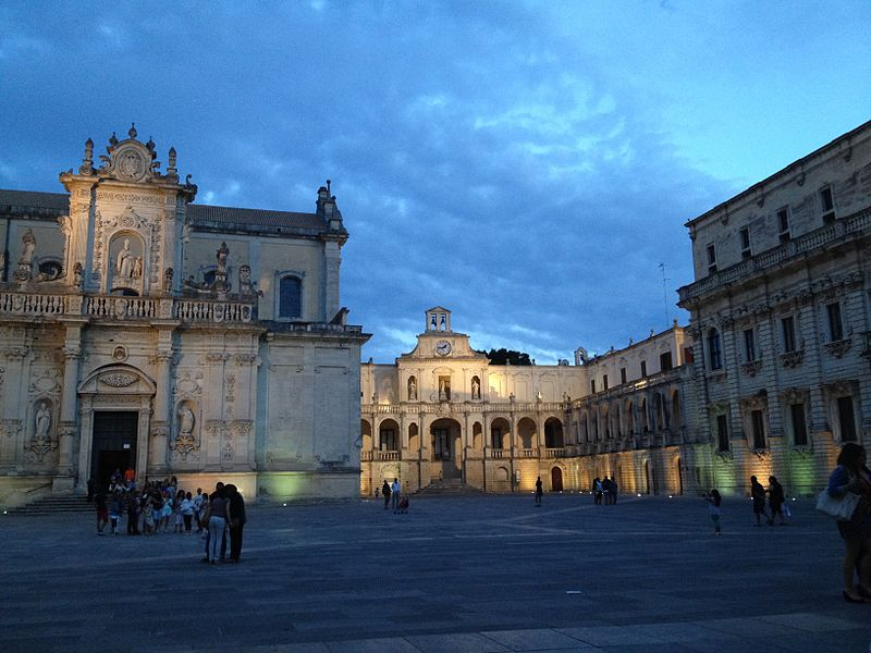 Historical buildings in Lecce.