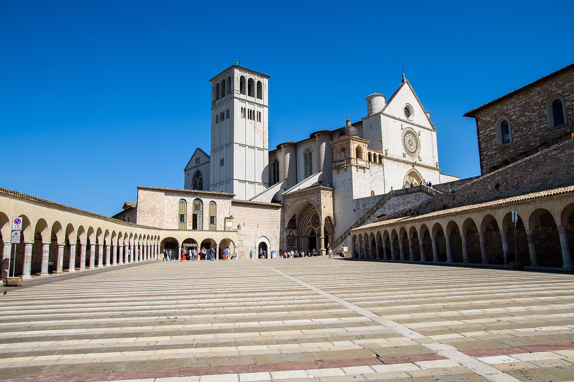 The architecture at Assisi