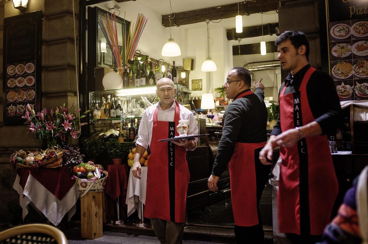 Italian waiters.