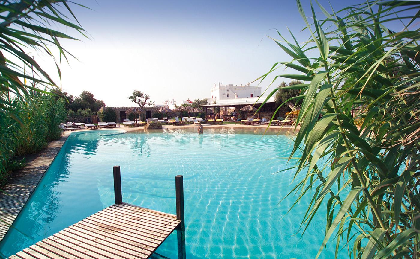 Masseria Torre Coccaro hotel in Puglia with a pool.