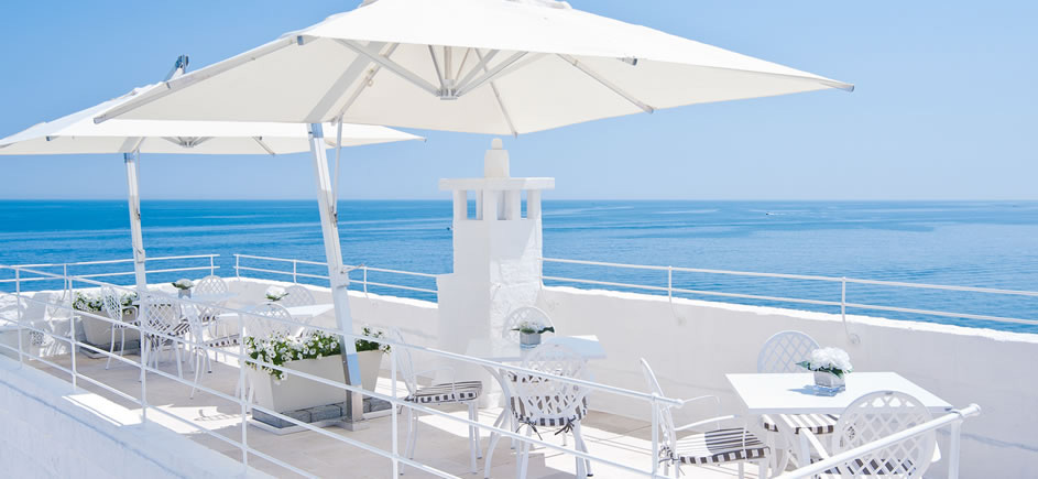 Rooftop view on Puglia hotel, Don Ferrante