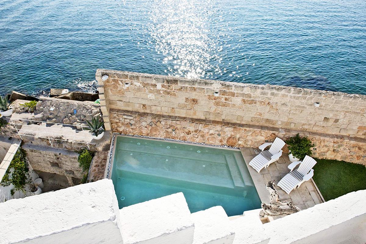 Don Ferrante hotel overlooks the sea in Puglia.