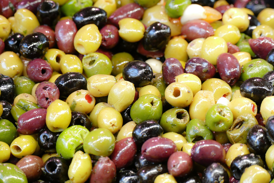 olives from Italy.