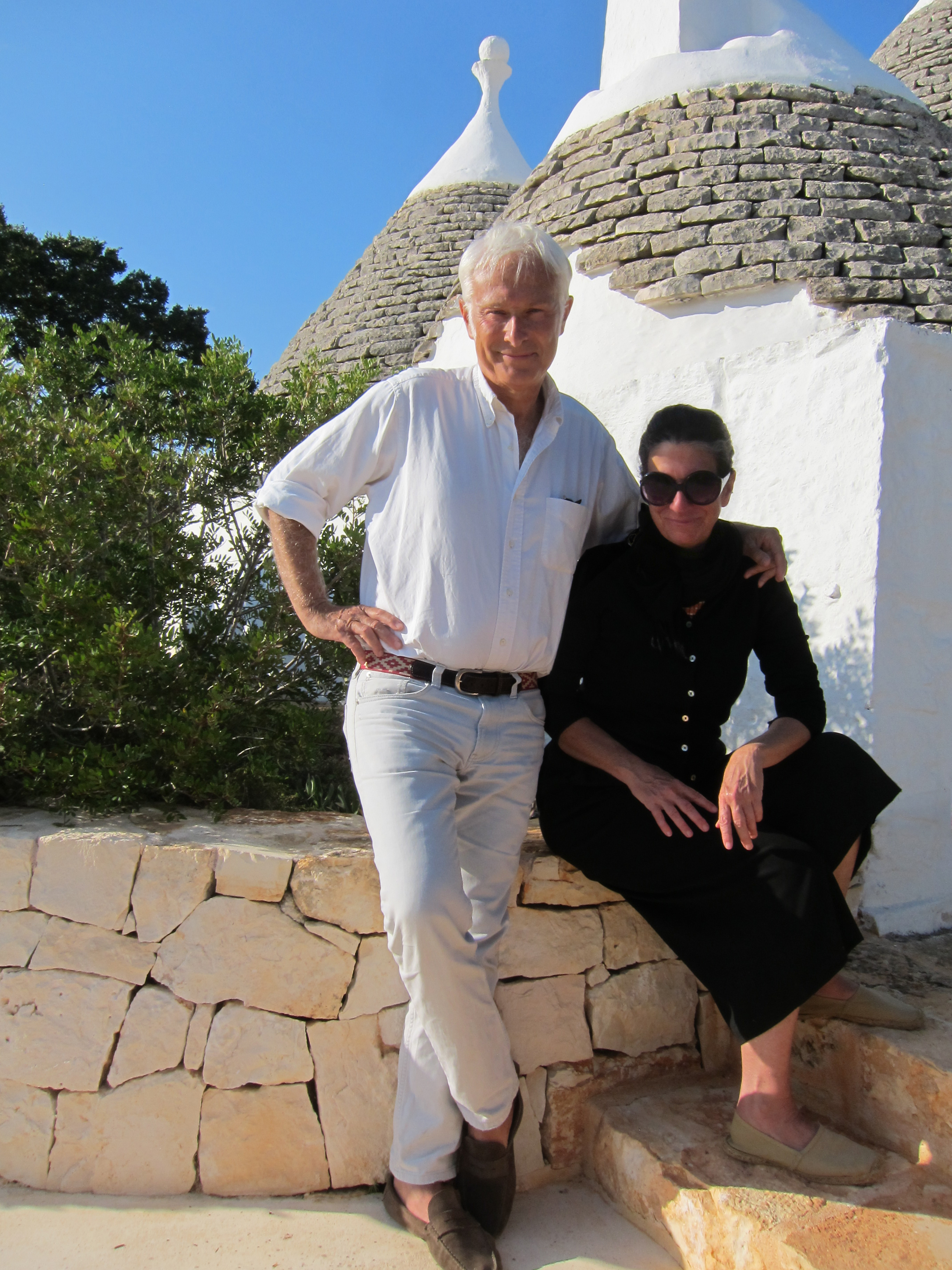 Franco and Claudia the owners of Trullo Iduna