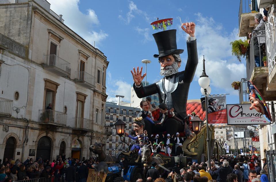 The Carnival of Putignano in Puglia, Italy