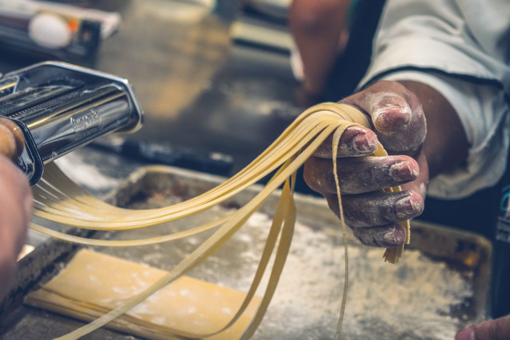 handmade pasta in Italy