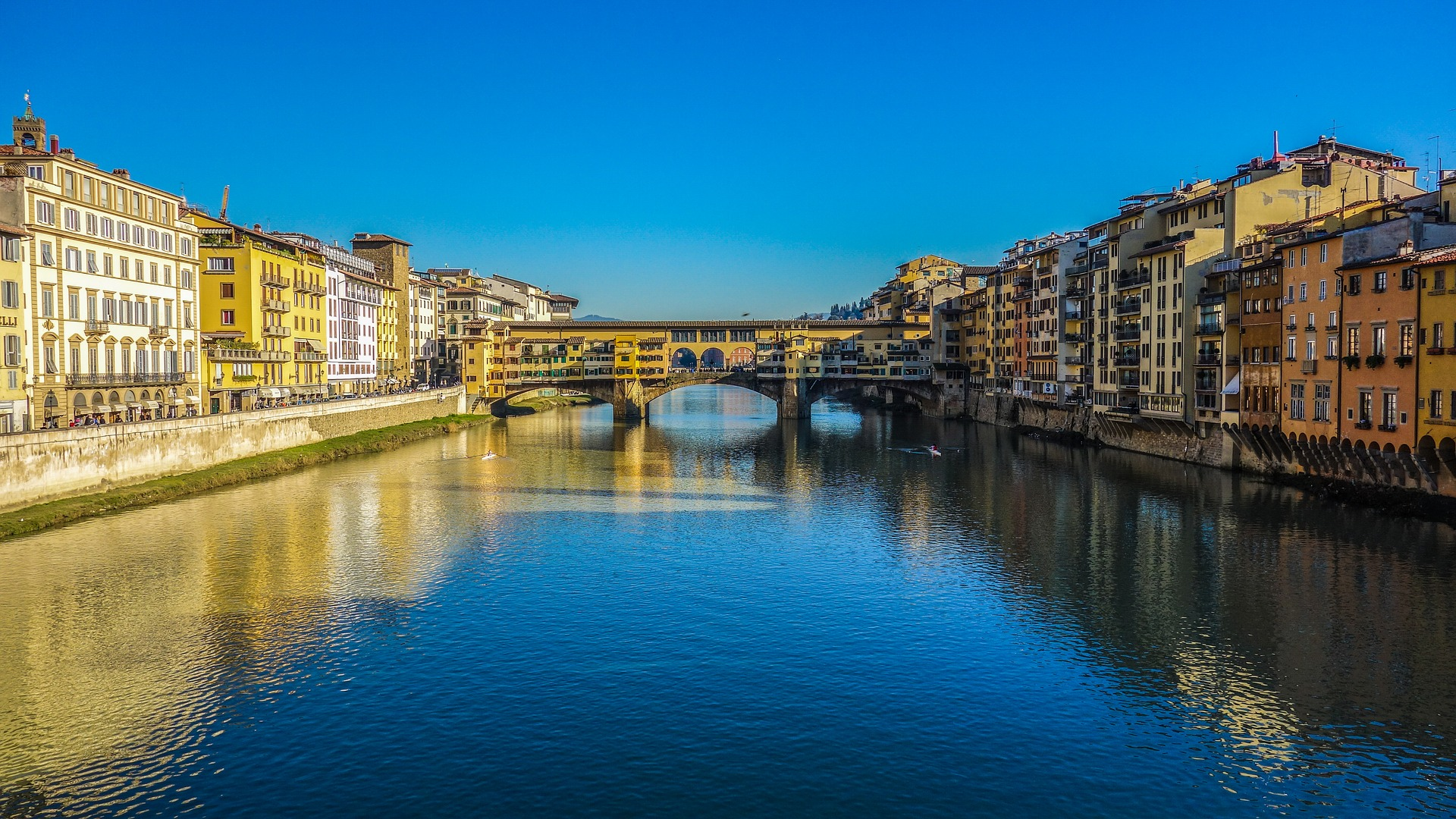 Ponte Vecchio bridge in Italy.