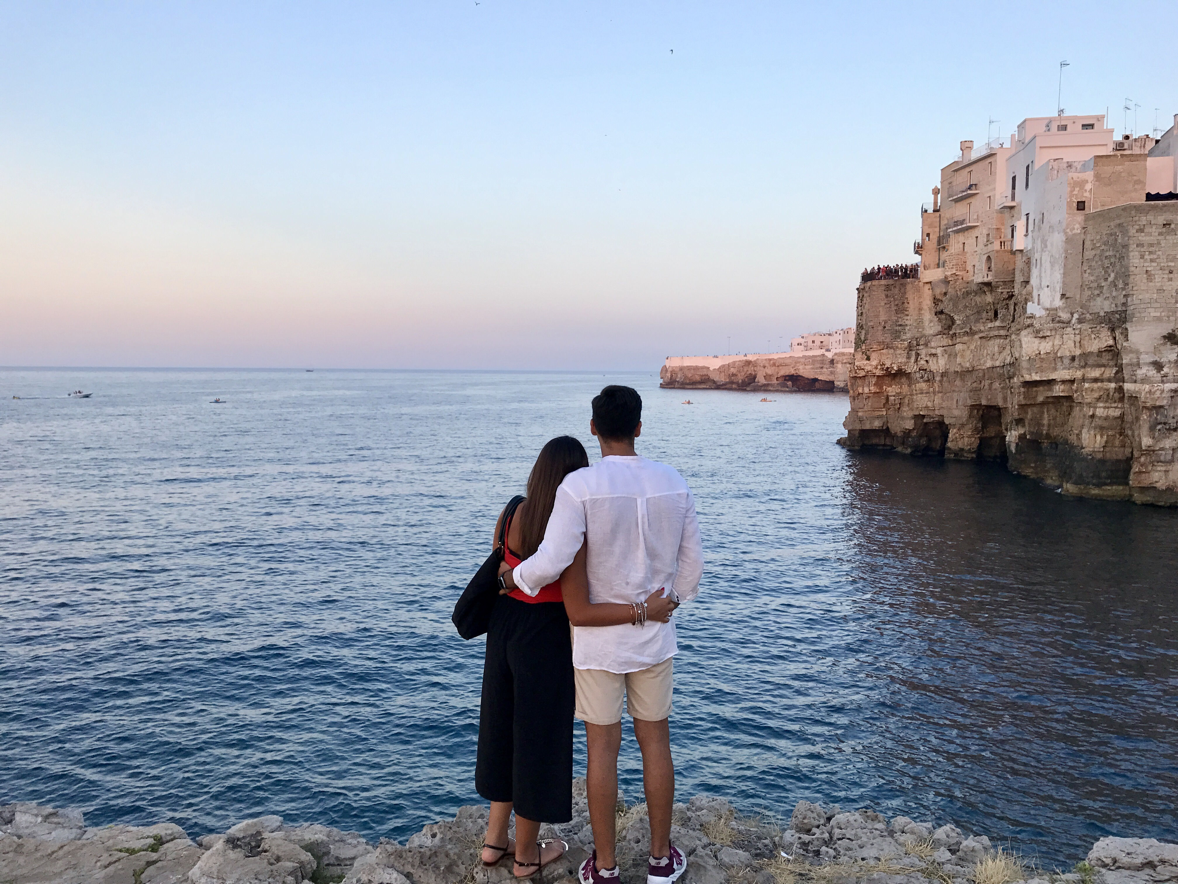 a couple in Puglia.