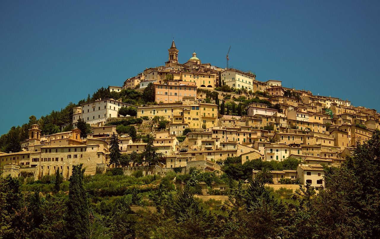 hilltop town in Umbria.