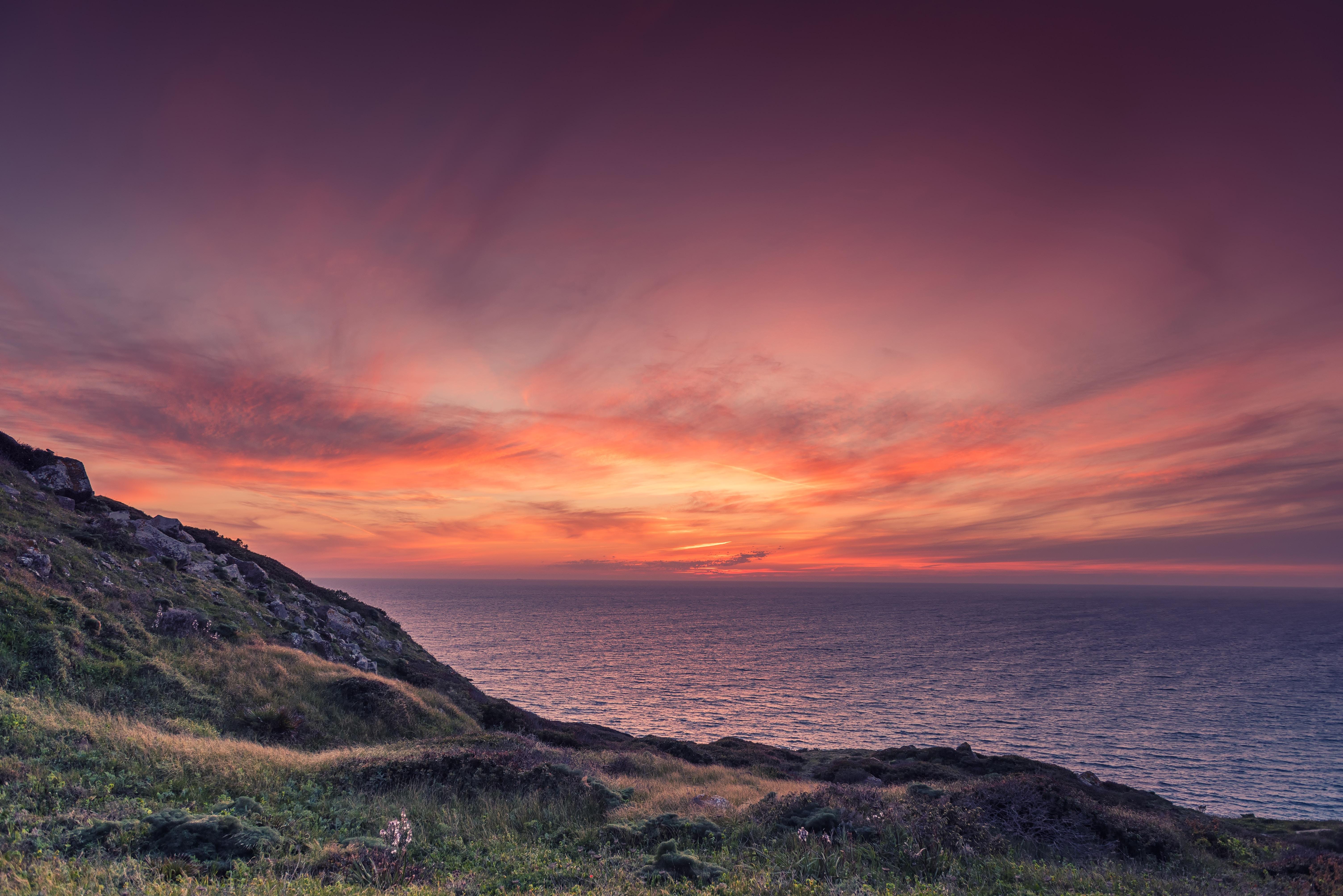 The sunset in Sardinia