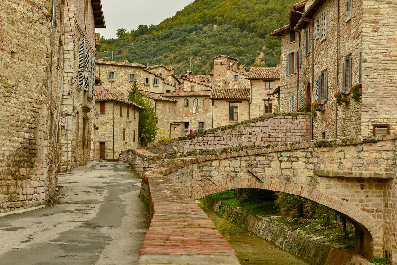 Cobbled streets of Gubbio