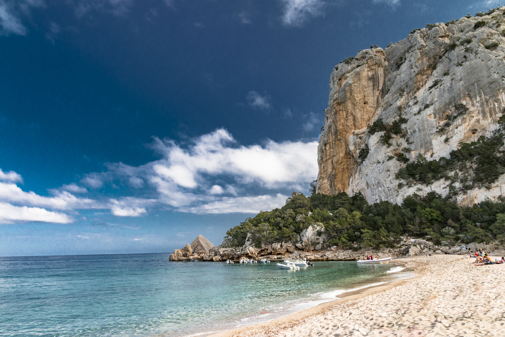 Cala Luna, a beach on a walk of Golfo di Orosei in Sardinia