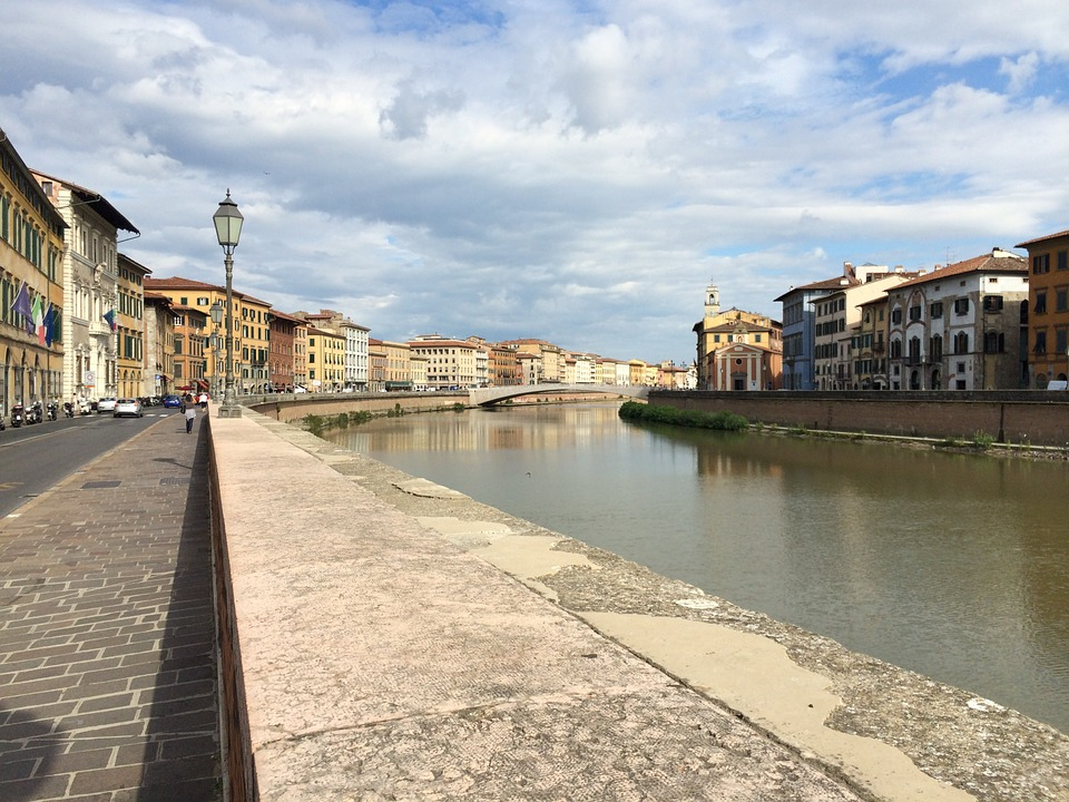 A view over the river Arno in Pisa