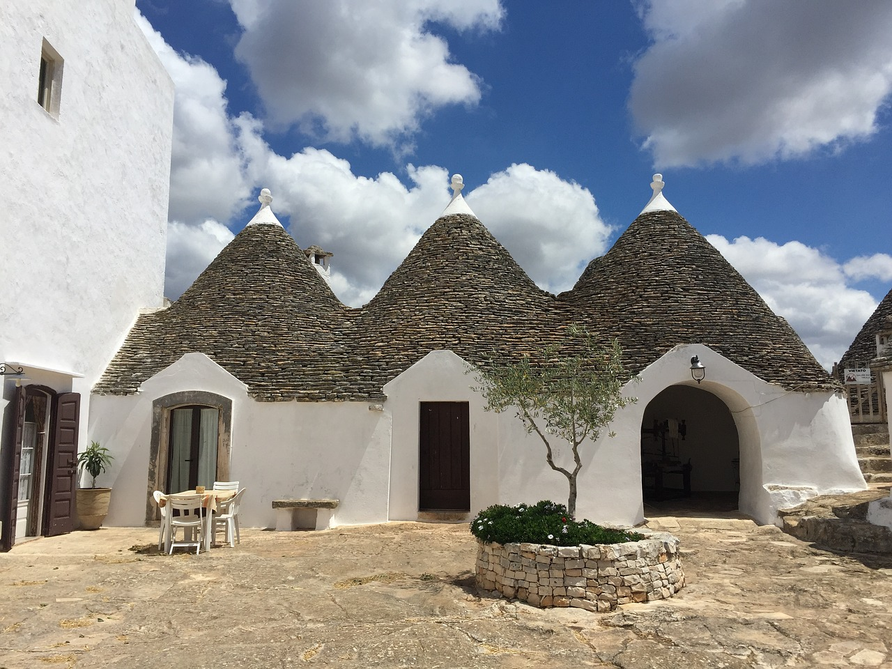 Three trullo in Puglia