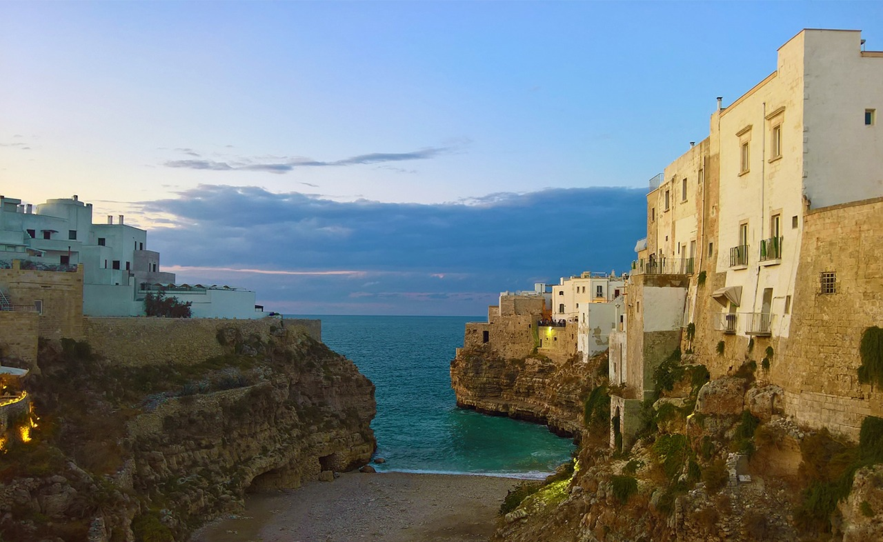 The beach at Polignano a Mare in Puglia