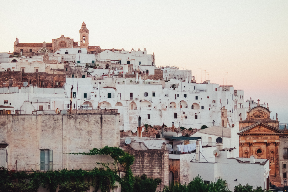 The whitewashed walls of the city of Ostuni