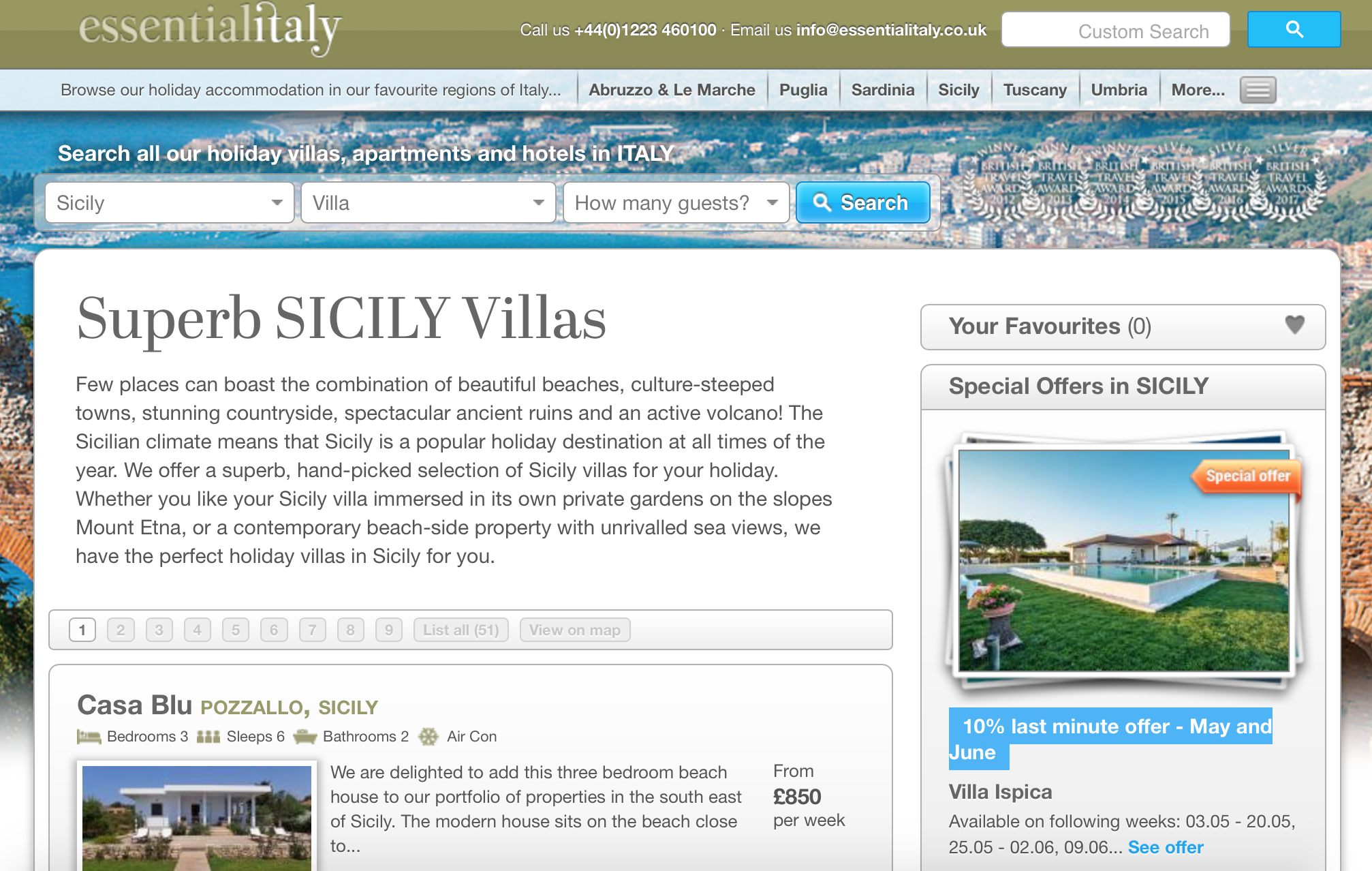 Booking an Essential Italy villa in Sicily