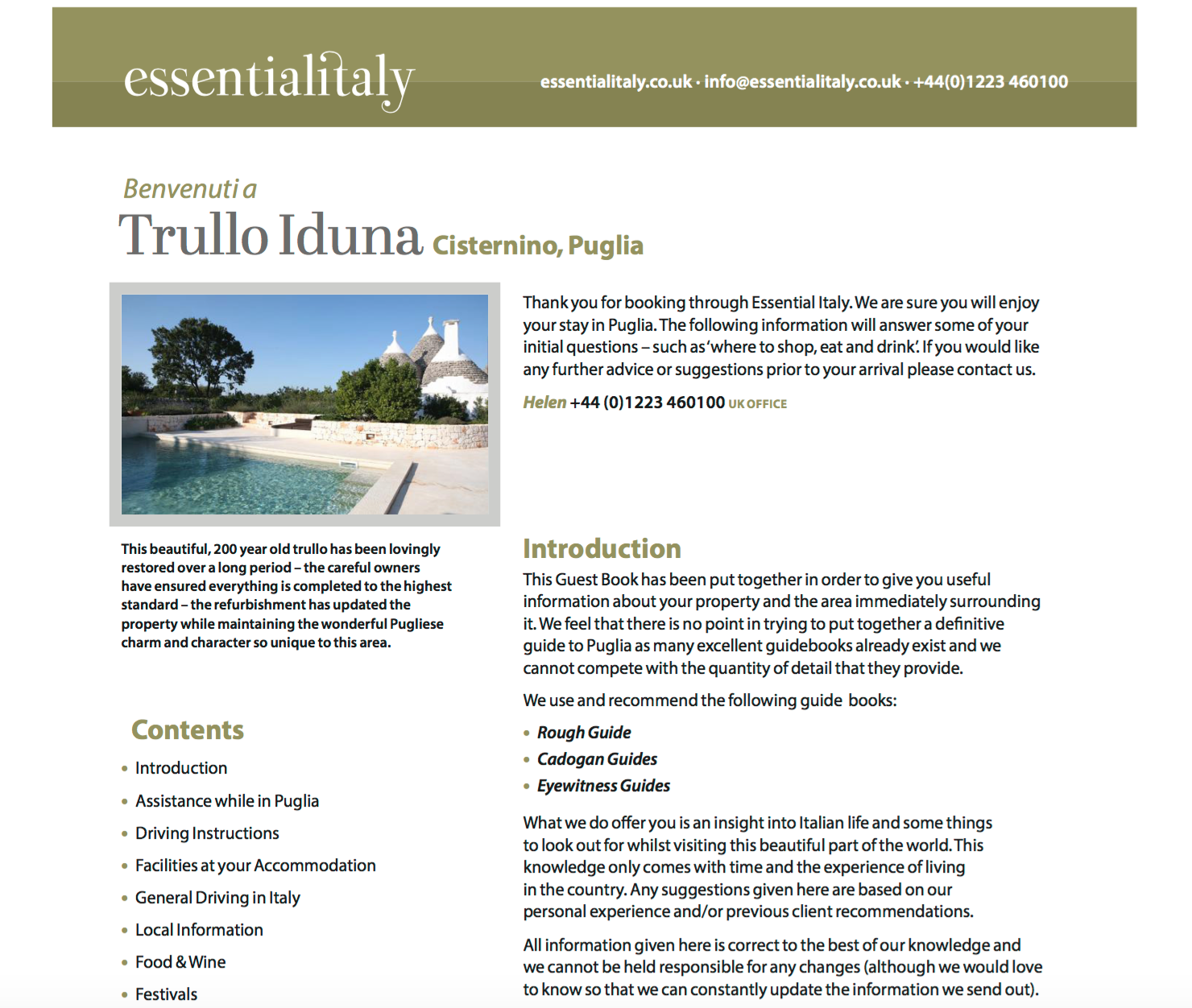 A guide to Trullo Iduna