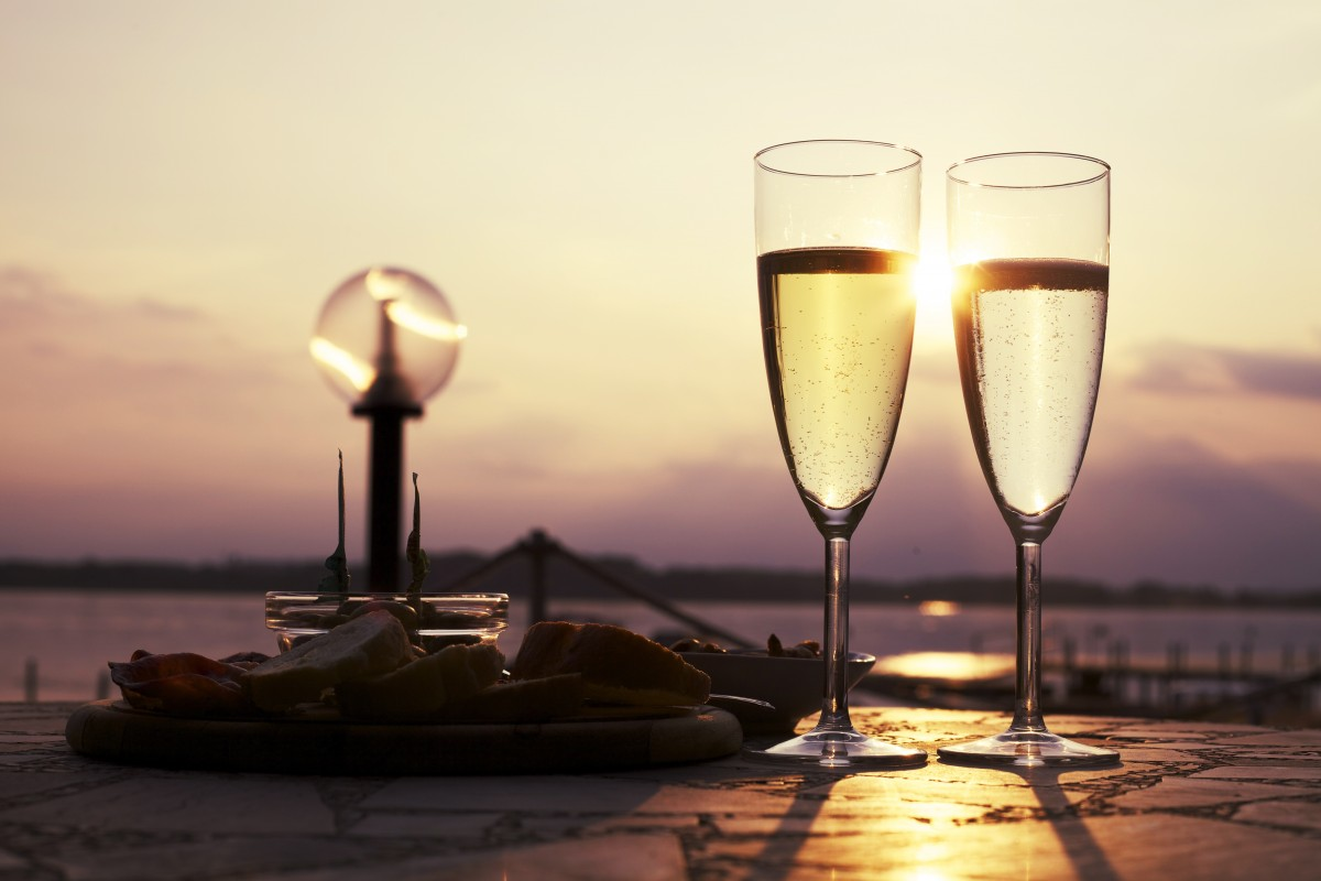 Two glasses of prosecco being enjoyed on an Italian holiday