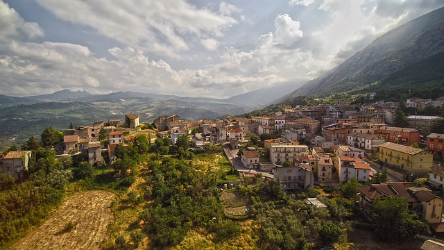 Medieval hilltop town in Abruzzo.