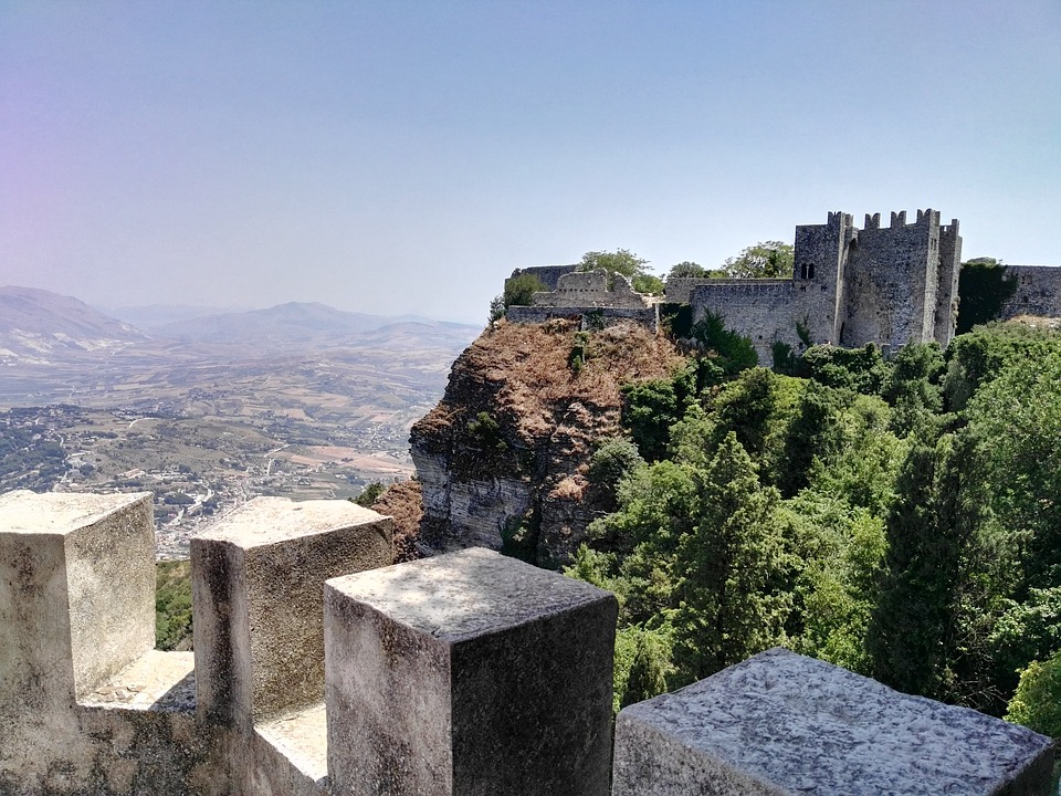 A view of Sicily from the village of Erice