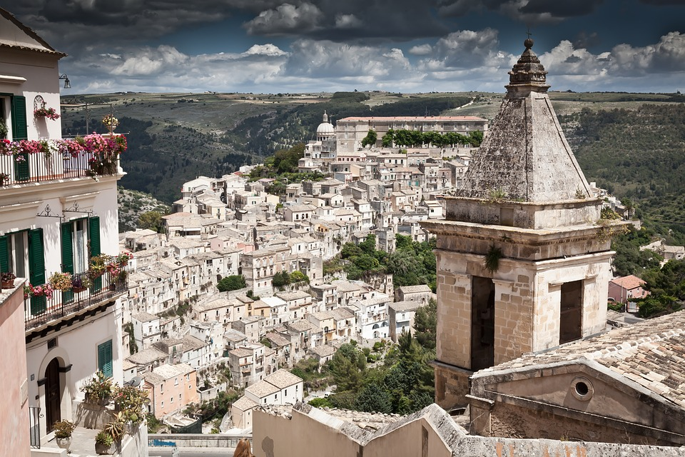 A view of Ragusa in Sicily