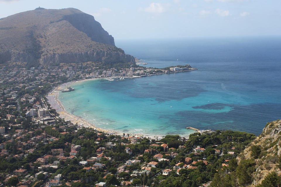 An aerial view of Palermo