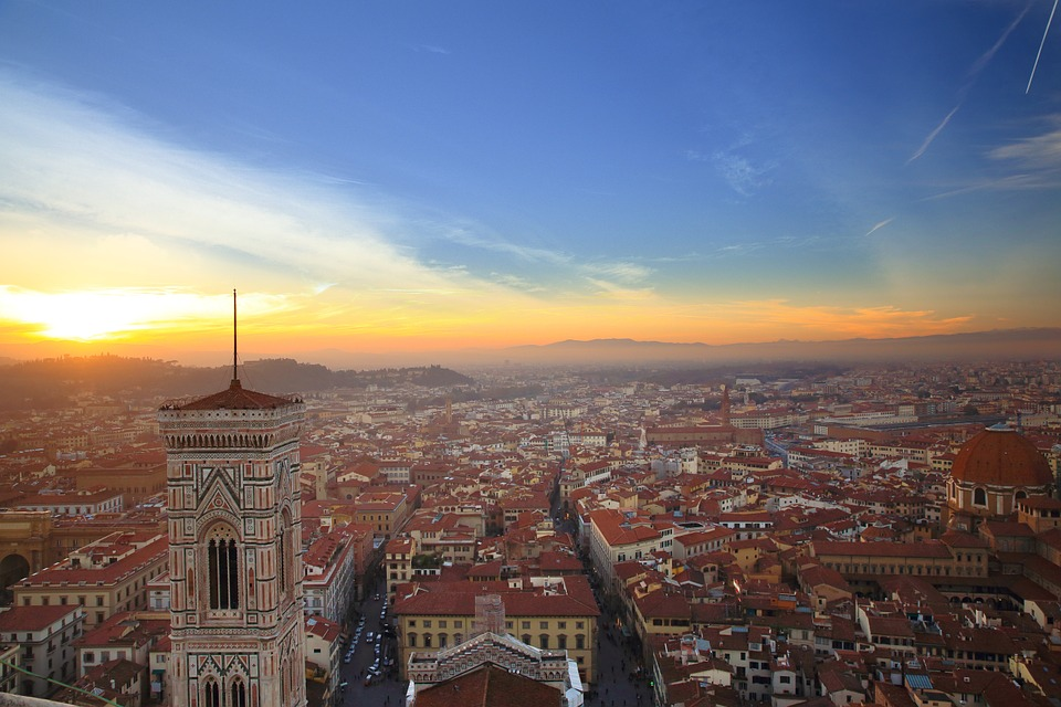The city of Florence from above
