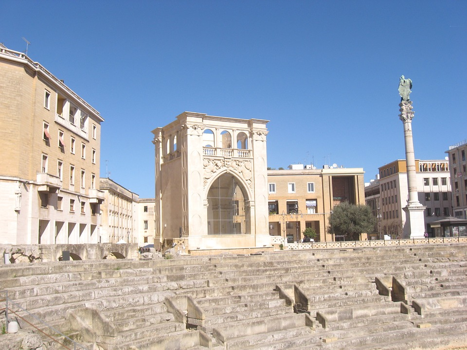The Roman amphitheatre in the Piazza Sant'Oranzo