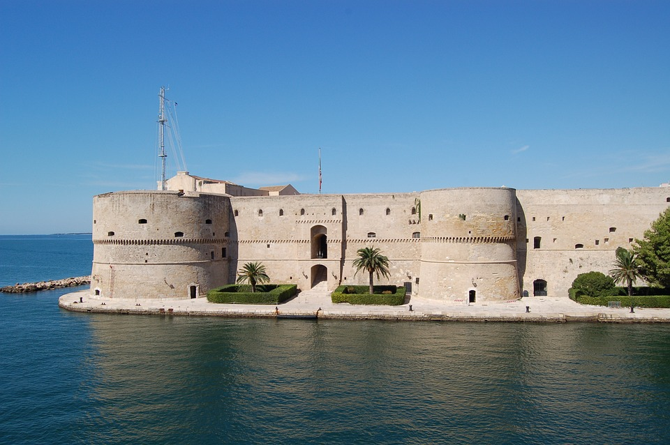 The Castello Aragonese in Taranto, Italy