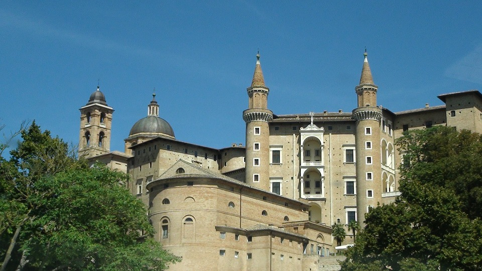 The Palazzo Ducale in Urbino, Italy