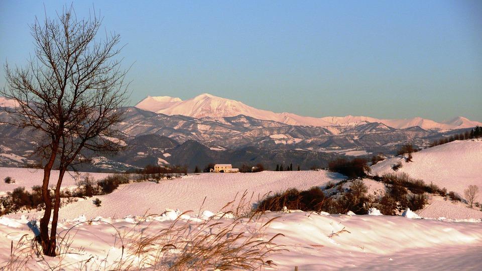 Wintry scene in Abruzzo