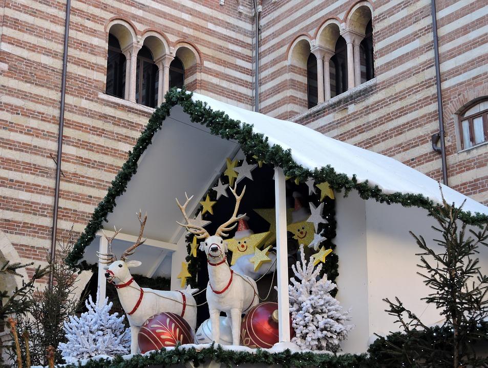 A reindeer stool in Verona, Italy