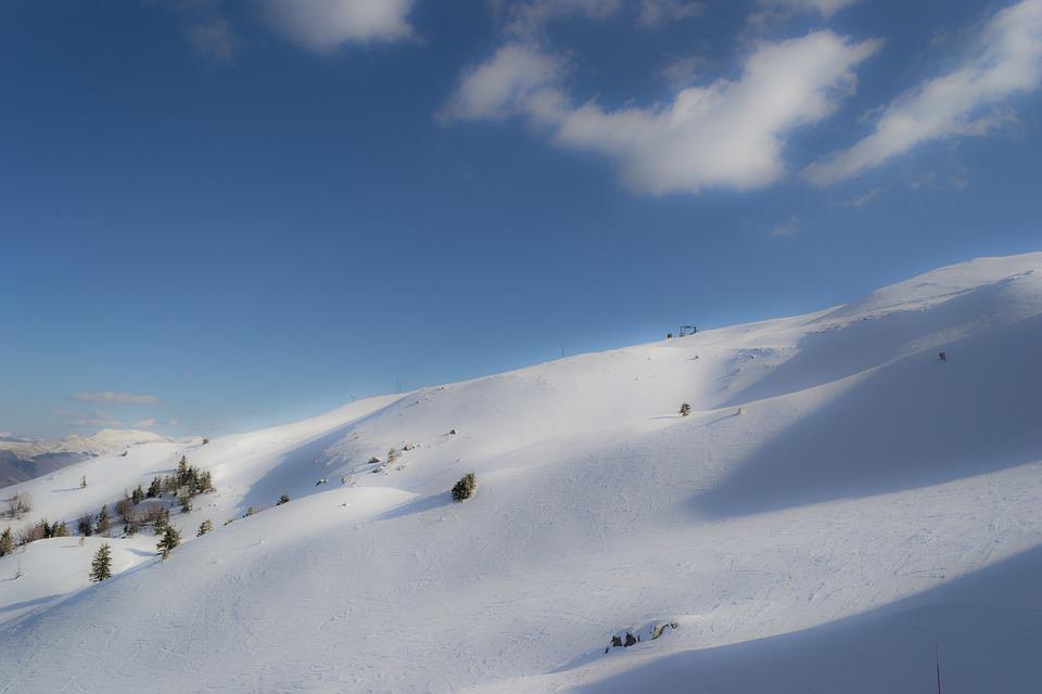 Ski slope in Abetone, Tuscany, Italy