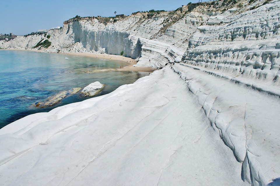 A close-up view of the Scala dei Turchi in Sicily
