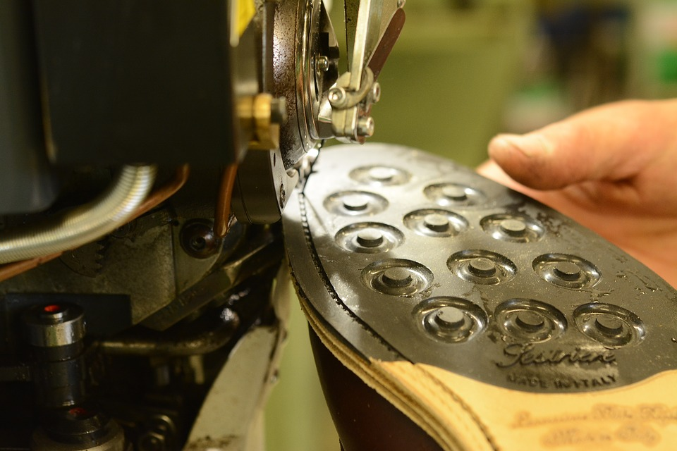A shoe being handmade in Italy