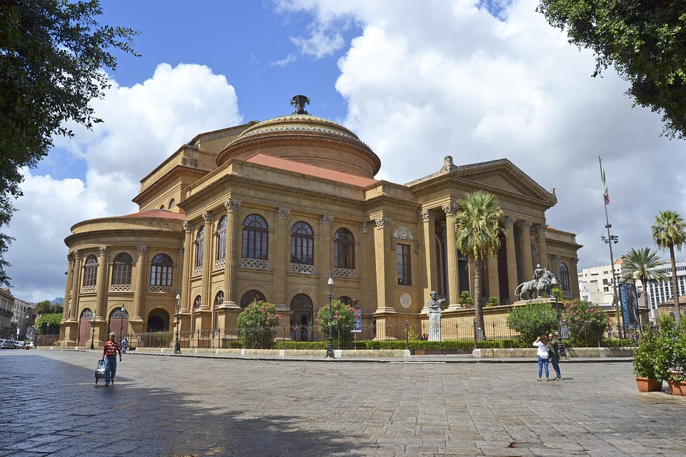 The Teatro Massimo in Palermo during the day