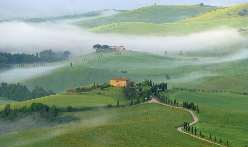Beautiful countryside in Tuscany