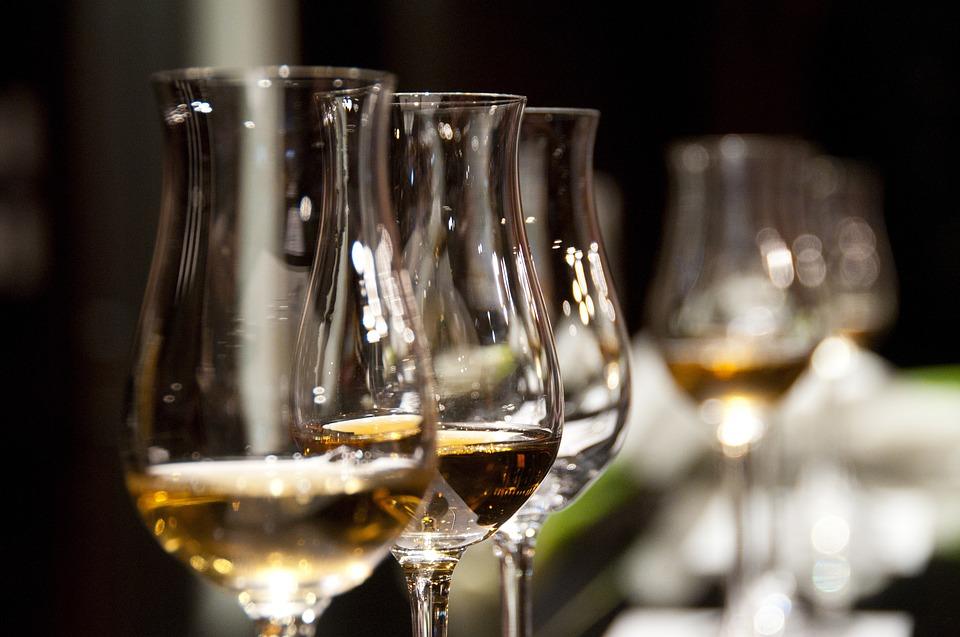 Wine tasting at an Italian festival